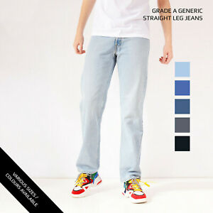 LEVIS-STRAIGHT-LEG-JEANS-DENIM-GRADE-A-W30-W32-W34-W36-W38-W40