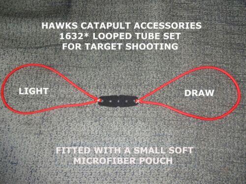 Hawks catapultes 1632 Boucle Tube Set Slingshot caoutchouc élastique