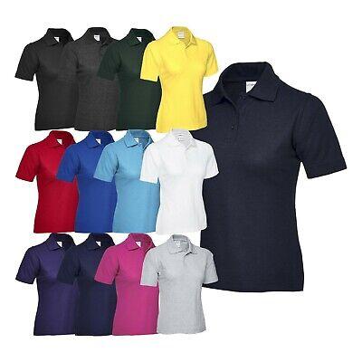 XX-Large Pink Uneek UC106 Polyester//Cotton Ladies Pique Polo Shirt