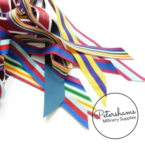 10m Lucky Dip Grosgrain Ribbon Remnants for Millinery Hat Making /& Crafts
