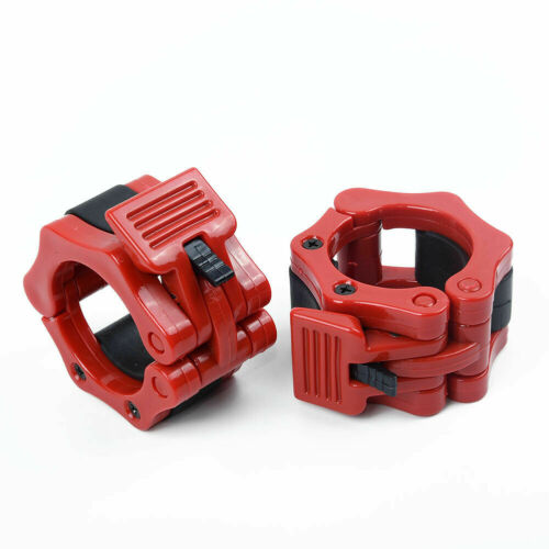 50mm Olympic Lock Barbell Clamp Collars Weightlifting Bar Dumbbell Locking 1pair