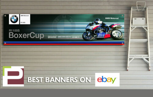 BMW R1100s Boxer Cup Motorrad Banner for Workshop, Garage, Man Cave etc