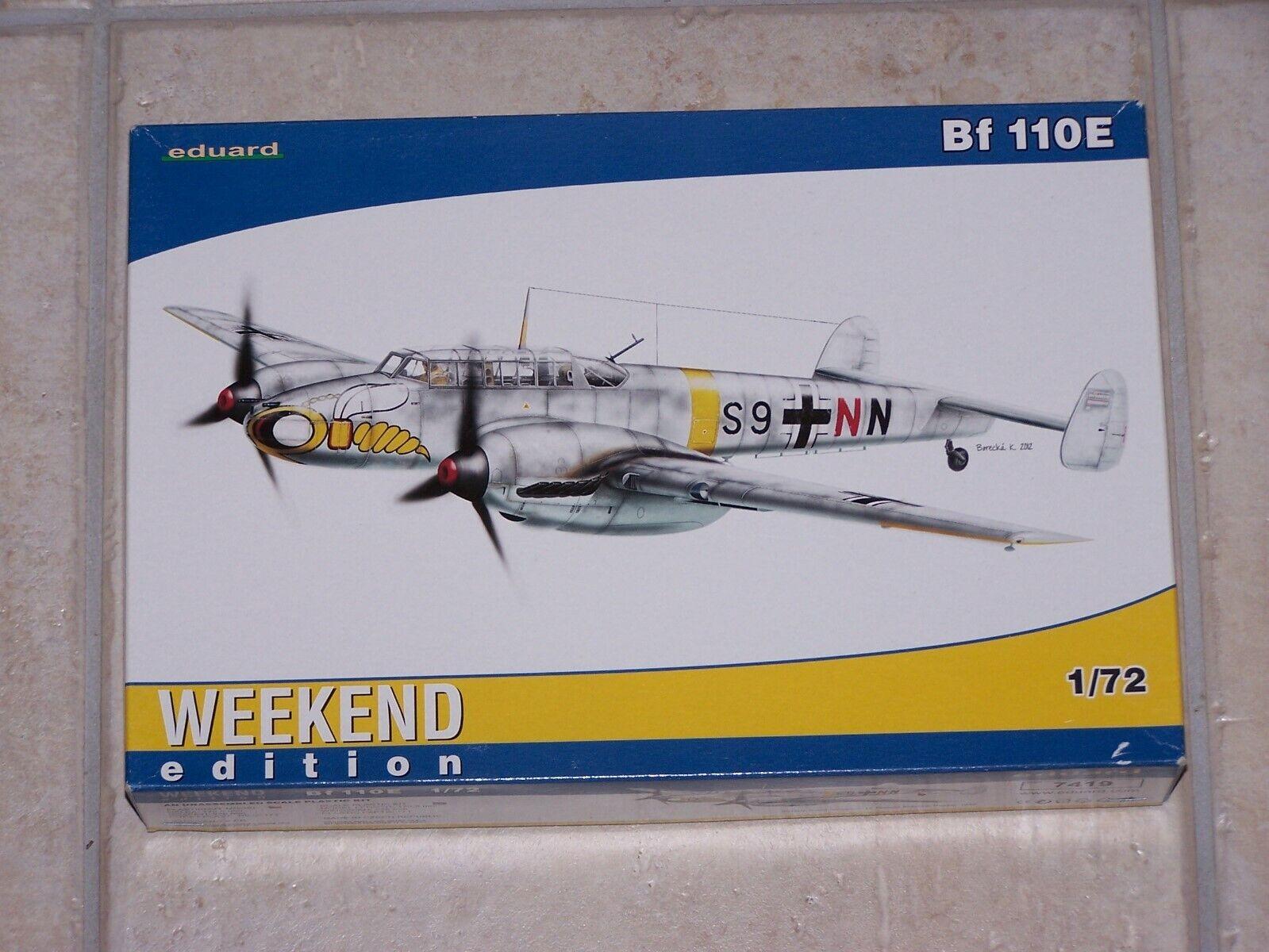 Neu Eduard Plastic Kits 7426-1:72 Bf 110C  Weekend