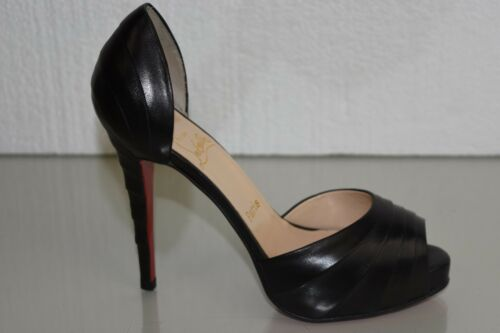 8615b9a10ca9 6 of 12 NEW Christian Louboutin ARMADILLO 120 Leather Black Platform Shoes  37.5 39 40