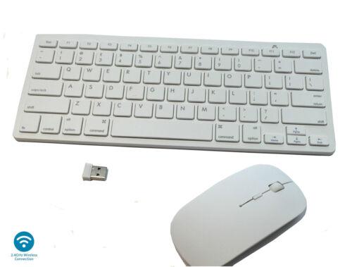 2.4GHz Wireless Keyboard Mouse Combo Set White Laptop Desktop Apple Mac