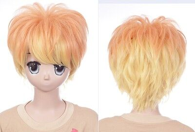 Sakamaki Diabolik Lovers orange Wig yellow W Cosplay 32cm Shu 635 OvxFtWcqwf