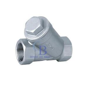 """2/"""" Y strainer pump filter NPT Stainless steel 316 1000PSI Mesh Water Oil"""