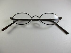 43c4afb9540 VINTAGE Small Oval COCOA BROWN Reading Glasses Spring Temples +2.75 ...