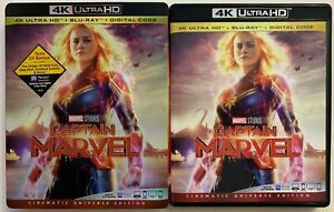 CAPTAIN-MARVEL-4K-ULTRA-HD-BLU-RAY-2-DISC-SET-SLIPCOVER-SLEEVE-FREE-SHIPPING