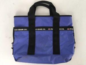 VTG 90s Polo Jeans Ralph Lauren Nylon Bucket Bag Beach Tote Purse ... 7909037daeb1e