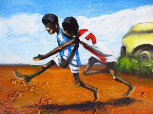 AFL OUTBACK GRAND FINAL PAINTING ART PRINT AUSSIE RULES  ABORIGINAL