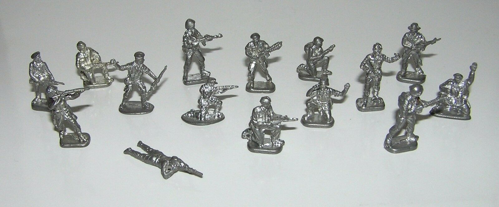 Set 15 pcs Russian COLLECTIBLE TIN SOLDIER. Manual work