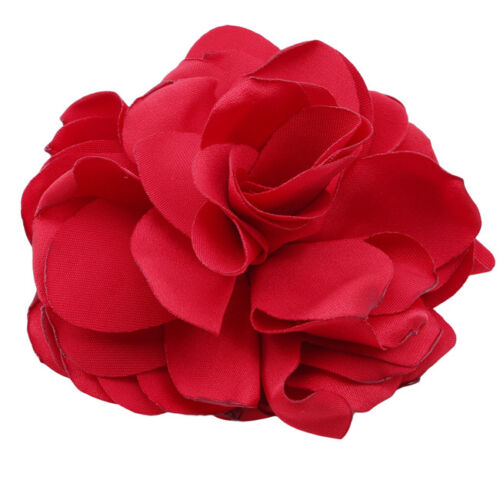 Women Girls Rose Flower Hair Band Elastic Rope Ponytail-Holder 6A