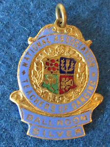 Vintage-National-Association-Teachers-of-Dancing-Medal-Ballroom-Silver-1958