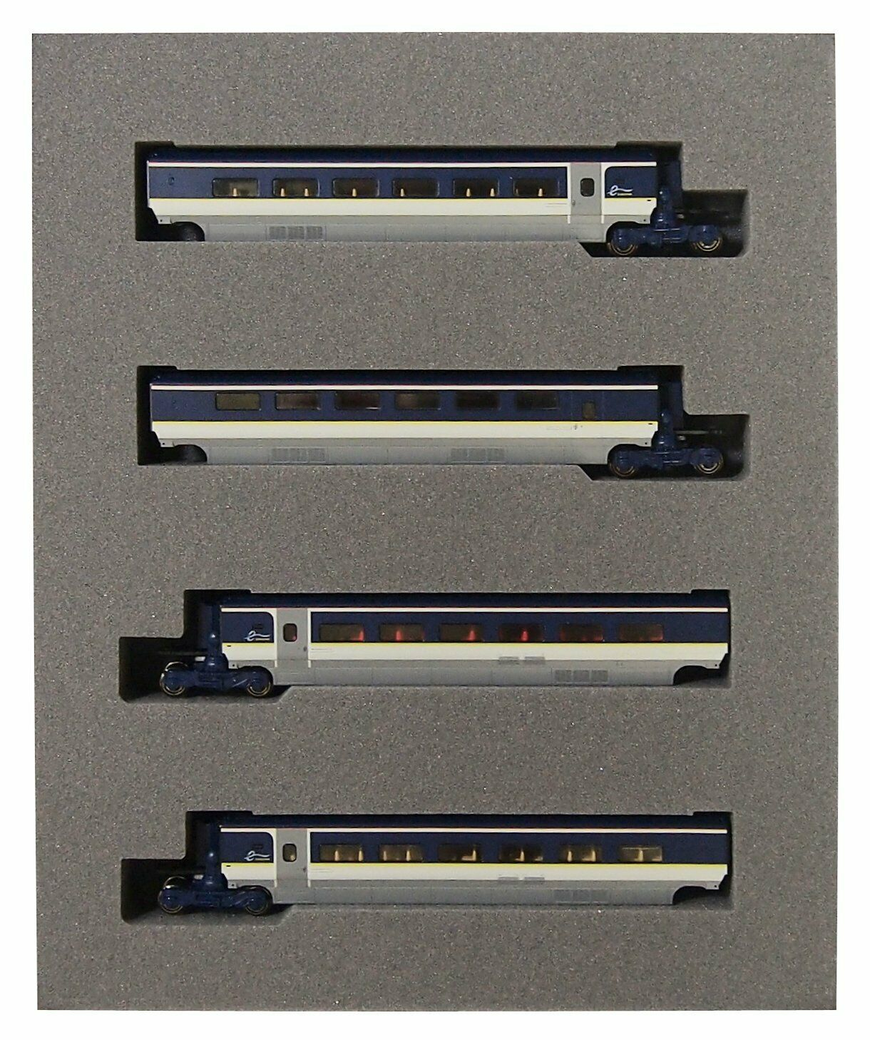 Kato 10-1298 Eurostar Coloree e300 Conjunto de 4 coches Add-on (escala N)