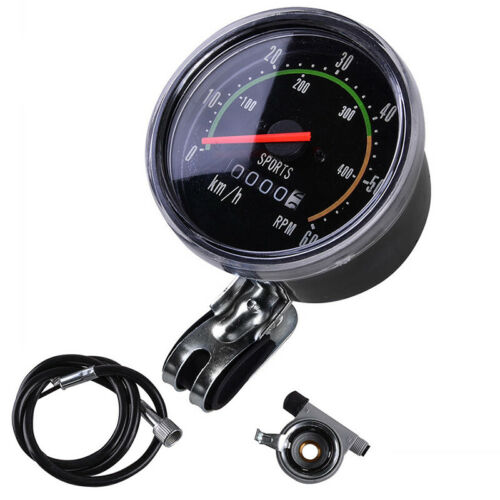 Vintage Style Bicycle Bike Speedometer Analog Mechanical Odometer With Hardware.
