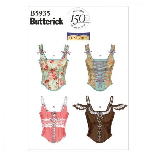 Butterick Damas fácil patrón de costura 5935 Corsets butteric.. Gratis Reino Unido P/&p