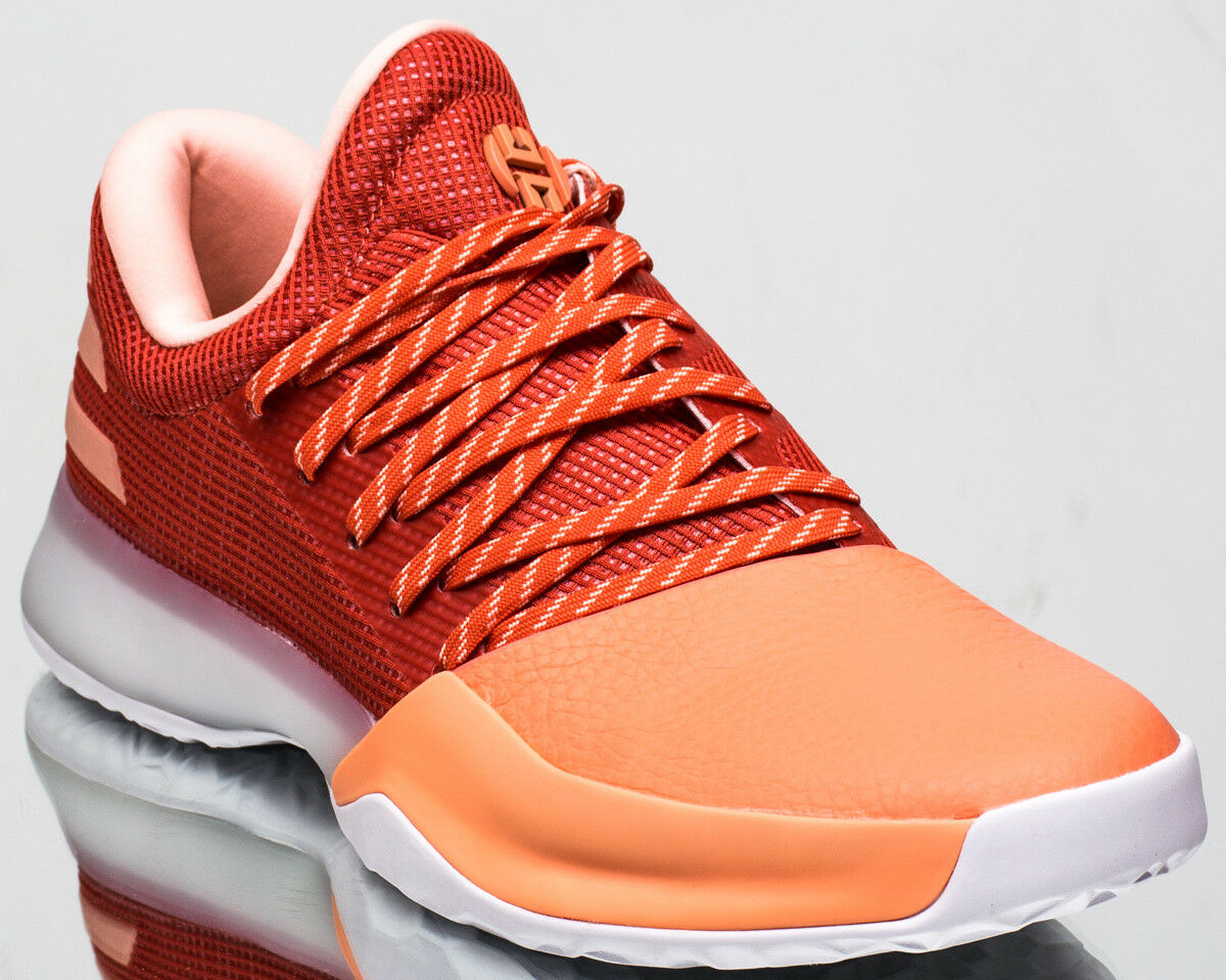 Adidas Harden Vol. 1 men basketball shoes new chalk coral trace scarlet AH2119