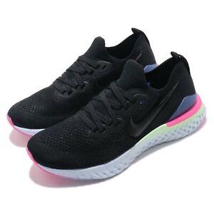 super popular 87709 88a24 Image is loading Nike-Epic-React-Flyknit-2-GS-II-Black-