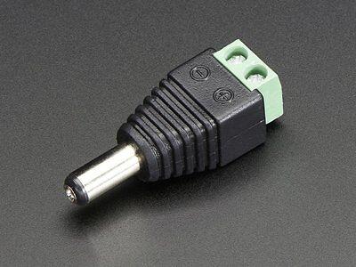 #M 12PCS 5.5MM X 2.1MM MALE DIY DC POWER JACK ADAPTER CONNECTORS CCTV// LED// ETC