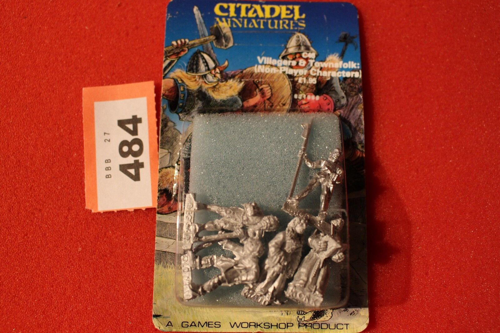 Citadel C46 Villagers Townsfolk 5x Metal Figures Games Workshop Warhammer 80s M