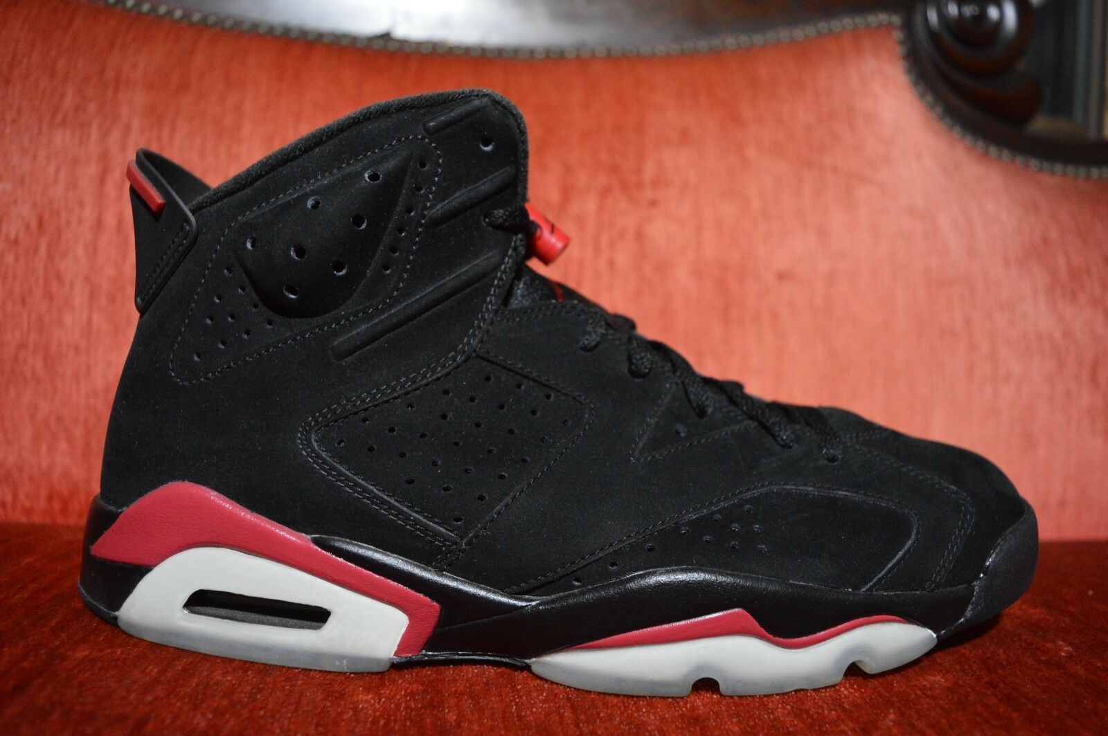 WORN 1X 2010 NIKE AIR JORDAN 6 VI RETRO BLACK-INFRARED Size 11 384664-003