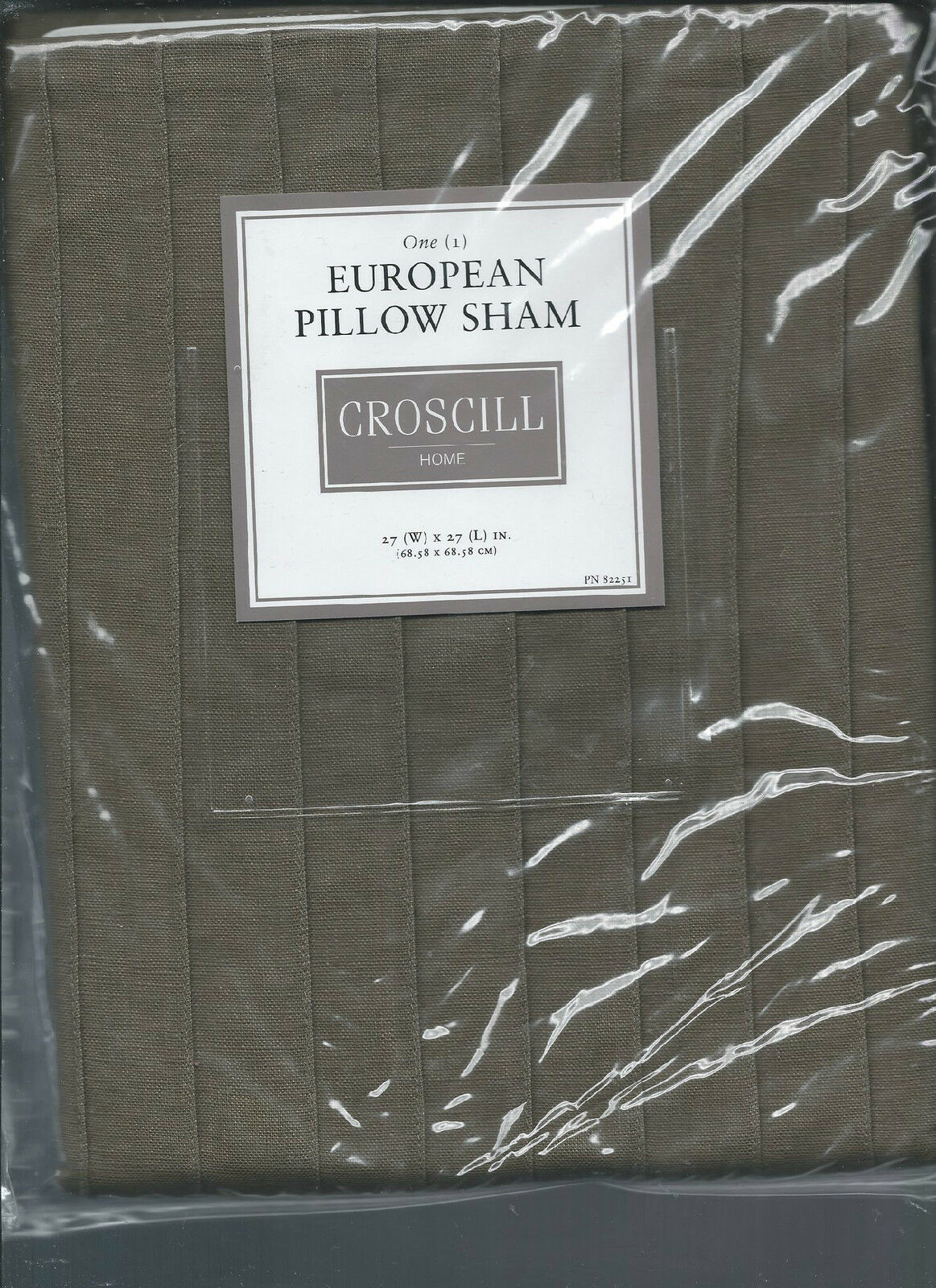 Croscill Port of Call Green Euro Sham Pleated New 1st Quality