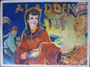 VINTAGE c 1930 PANTOMIME ALADDIN POSTER TAYLORS OF WOMBWELL ORIGINAL LITHOGRAPH - <span itemprop=availableAtOrFrom>Sheffield, South Yorkshire, United Kingdom</span> - Returns accepted Most purchases from business sellers are protected by the Consumer Contract Regulations 2013 which give you the right to cancel the purchase within 14  - Sheffield, South Yorkshire, United Kingdom