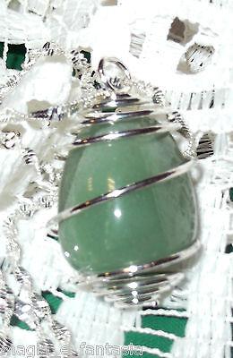 Collana con CHIASTOLITE Pietra croce cristalloterapia zen mineral chakra argento