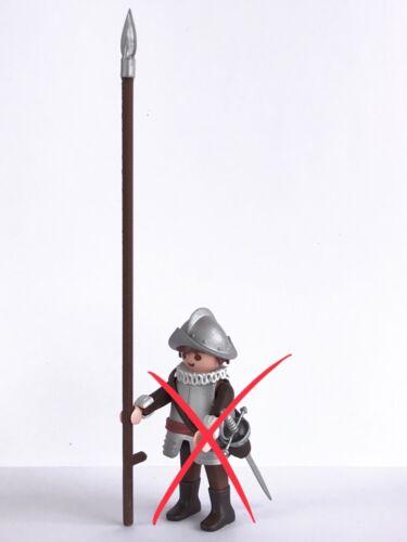 6 Spießen Lanze Waffe Mittelalterliche Dritte Soldat Custom Print 3D Playmobil