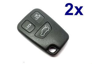 2x-3tasten-Llave-Mando-a-distancia-carcasa-para-VOLVO-S40-V40-S70-V70-C70