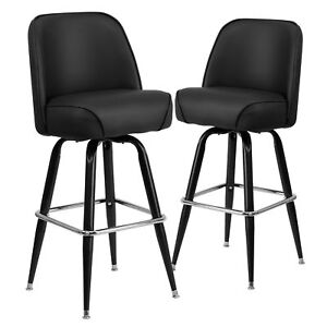 Ebern Designs Kirk Metal 30 Quot Swivel Bar Stool Set Of 2