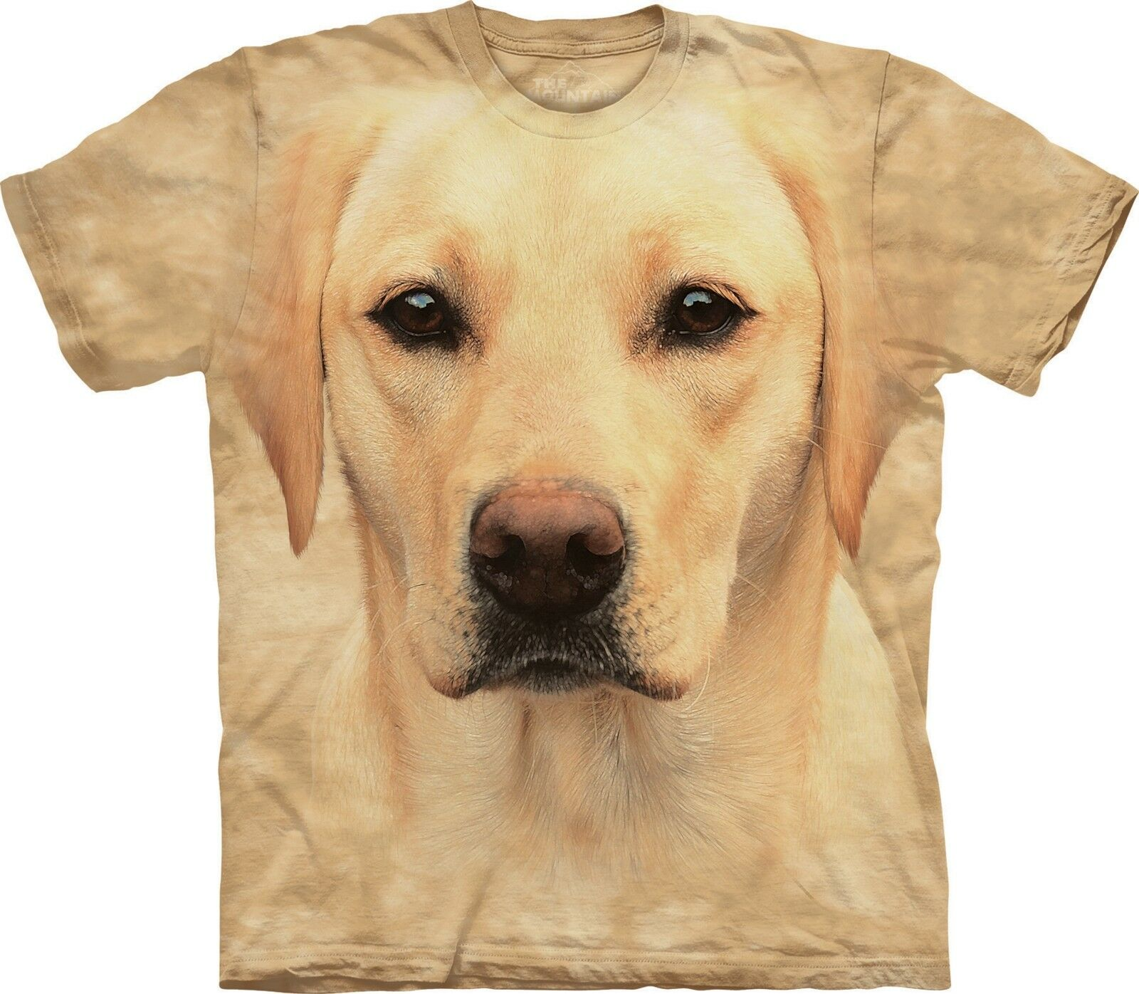 Yellow Lab Portrait Dog T Shirt Adult Unisex The Mountain