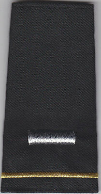2 Police Chief//Deputy 1 Silver Star//Gold Bar Epaulet Shoulder Boards Black-Large