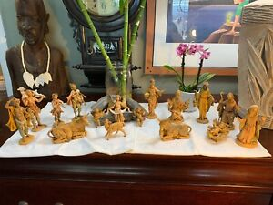 Vintage-Fontanini-Nativity-Set-Depose-1983-Italy-Figurines-LOT-Of-17-Rare-NICE