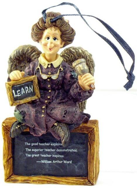 Boyds Bears School Teacher CHRISTMAS Ornament / Figurine ...