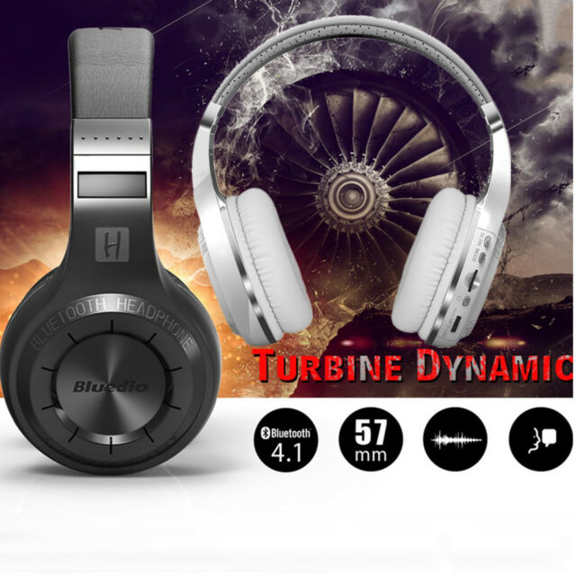 Bluedio Stereo Bluetooth Headphones Turbine Hurricane H+ Plus Headset FM W/ MIC
