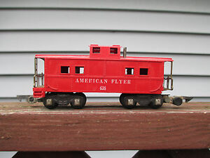 American-Flyer-638-034-AMERICAN-FLYER-034-RED-CABOOSE-USED-OPERATOR-CONDITION