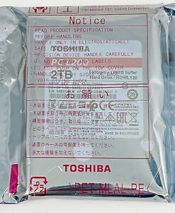 Toshiba HDWL120XZSTA L200 2TB Laptop PC SATA Hard Drive 5400 RPM SATA 6Gb/s