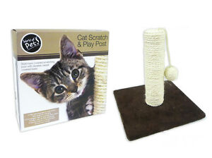 Mondo degli animali da compagnia Cat Scratch & Play Post Sisal ROPE & playball 							 							</span>