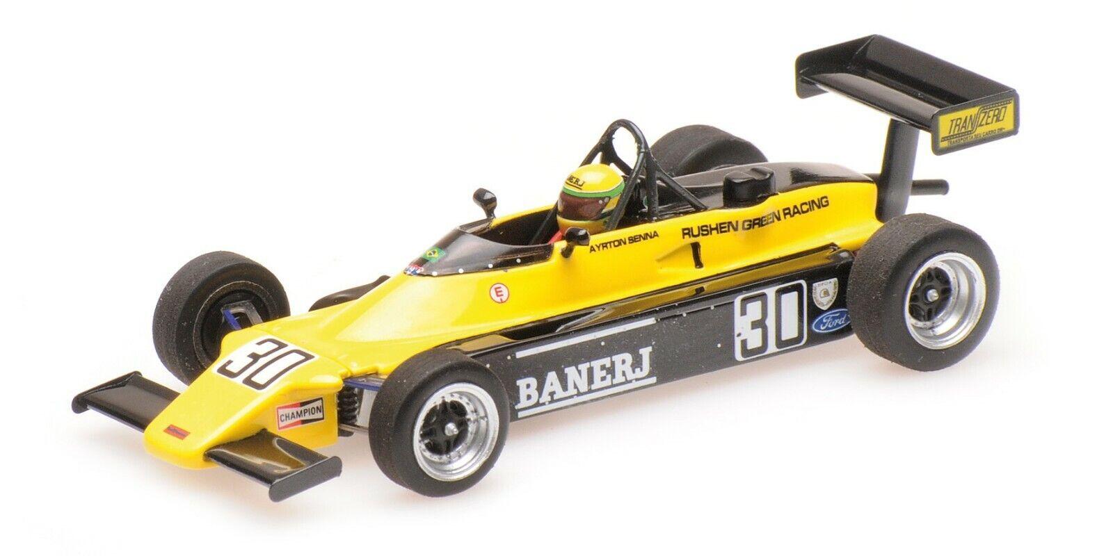Minichamps F1 Van Diemen RF82 Ayrton Senna 1 43 Champion Rd. 8 Jyllandsring 1982