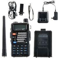 Baofeng Uv-5re Dual Band U/v 2-way Radio 136-174 / 400-520 Uv5re Walkie Black