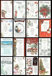 CHRISTMAS CARD QUALITY TRADITIONAL Cards LOVELY WORDS - SOMETHING FOR EVERYONE