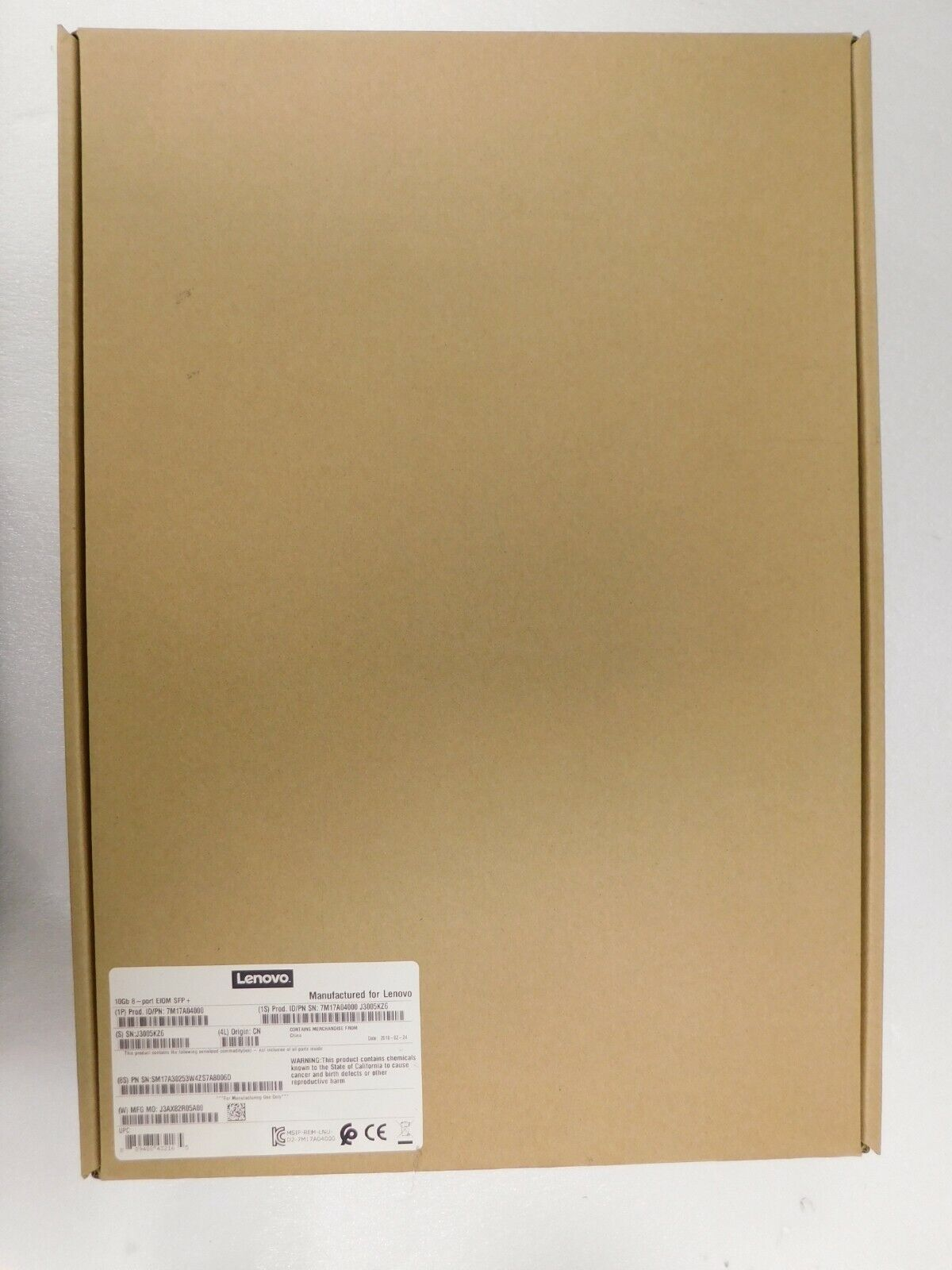 Lenovo 7M17A04000 - ThinkSystem D2 10Gb 8-port SFP+ LOM Adapter AUY9