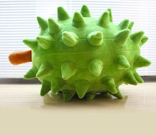 Green Durian Pillow Fruit Cartoon Plush Pillow 23cm Cotton Pillow Home Decor