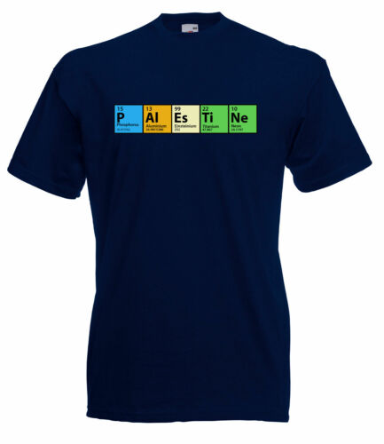 THE BIG BANG THEORY INSPIRED PERIODIC TABLE 'PALESTINE' QUALITY GEEKY T SHIRT