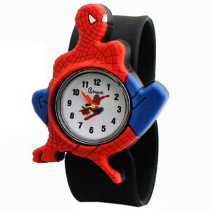 For Boys & Girls Children Party Gift Wrist Spiderman cartoon slap silicone Watch