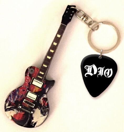 US Dio Holy Diver Mini Guitar Keyring /& Pick