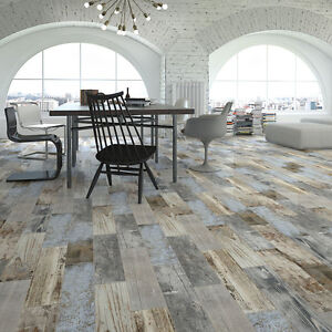 Image Is Loading Reclaimed Rustic Blue Wood Effect Porcelain Wall Floor  Part 76