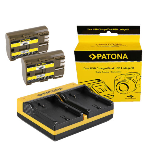 caricabatteria USB dual per Canon EOS 10D,EOS 20D,EOS 20Da 2x Batteria Patona